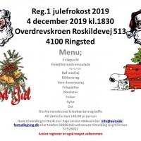 Julefrokost reg 1 Overdrevskroen Roskildevej 513 4100 Ringsted 4 december 2019