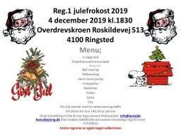 Reg 1 julefrokost 2019